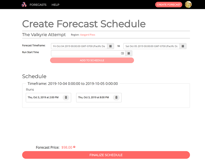 Cloudrun Forecast Scheduler